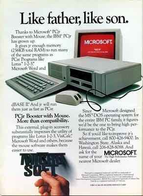 IBM PCjr y MicroSoft