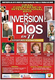 Conferencia Internacional 2010 en Callao, Peru. El Miercoles 24 de Marzo - Horas: 7PM