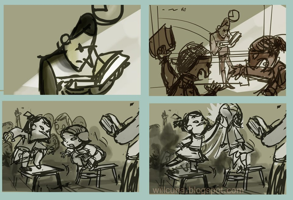 arts of will cuna  sample story boards clips