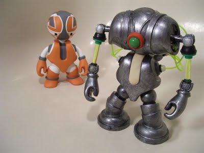 mike slobot robolucha patch together custom robot art mekazoo