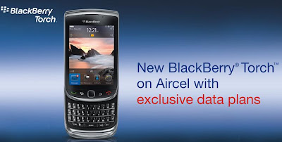 Aircel Offer BlackBerry Torch 9800