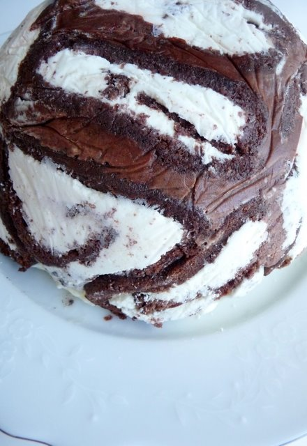 Taste Of Home Ice Cream Cake Made With Swiss Rolls