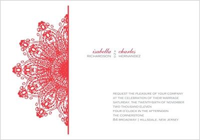 Here is the standard invitation design: