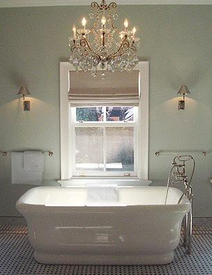 Bathroom Tub Chandeliers remodelaholic | electricity and bathroom chandeliers
