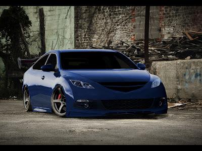Mazda 6 blue tuning