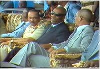 Honourable Somali President Mohamed Siad Barre with general Mohamad Ali samater