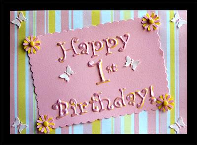 Birthday Cards: First Birthday Cards