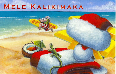 hawaiian style christmas card - Hawaiian Christmas Cards