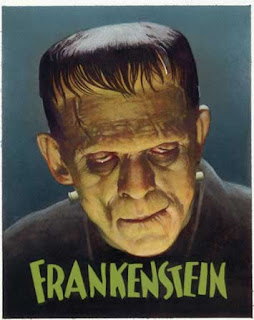 Frankenstein horror card