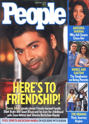 Karan Johar in November issue of People