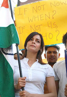 Dia Mirza during Peace March in Mumbai