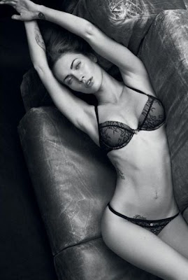 Megan Fox poses for Giorgio Armani ad