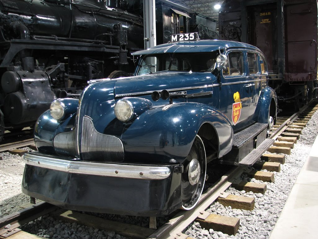 Just a car guy inspection cars for railroad inspectors to look over the rails in style and