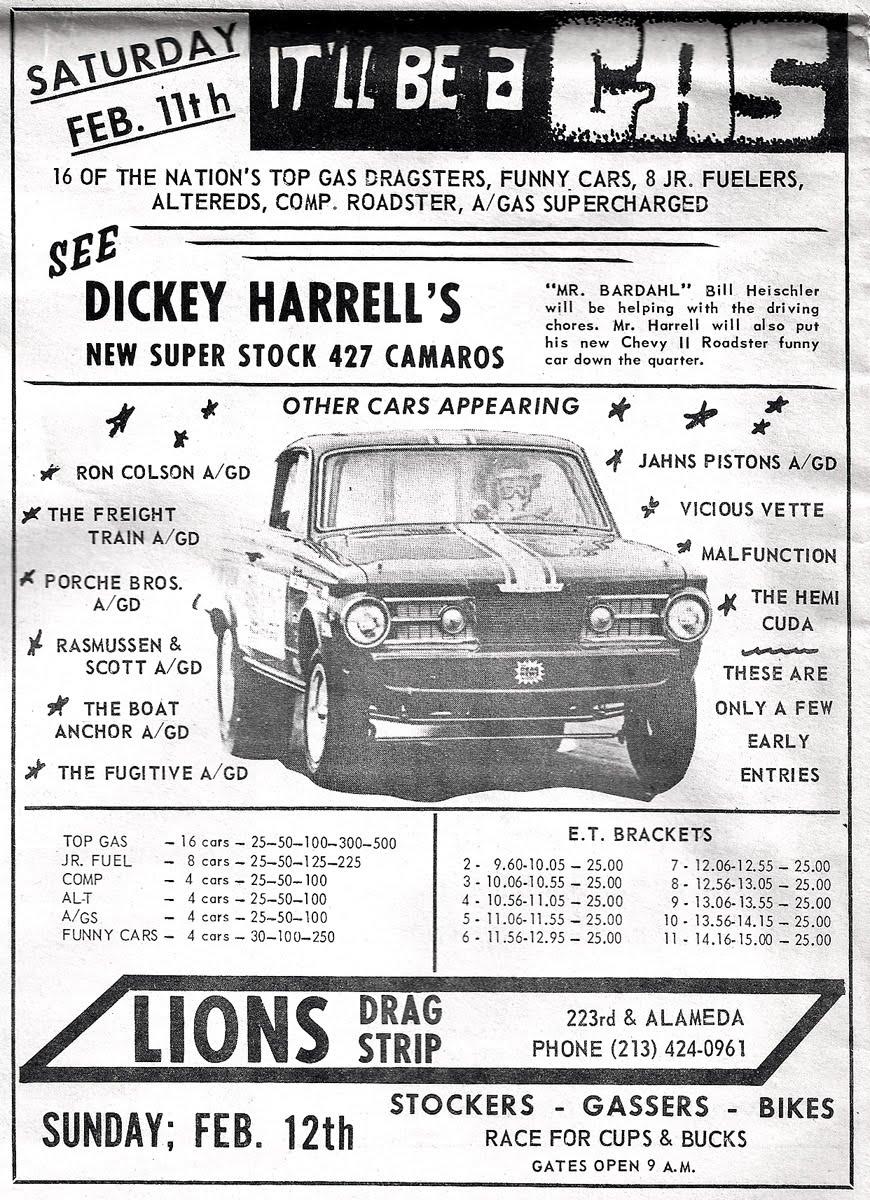 Lions Drag Strip Feb 11 1967