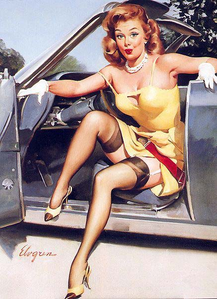 Pinups And Classic Cars