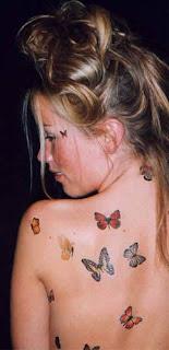 borboletas nas costas