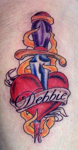 Tatuagens De Coracoes Anatomicos Coracao Anatomico Costurado Tatuagem