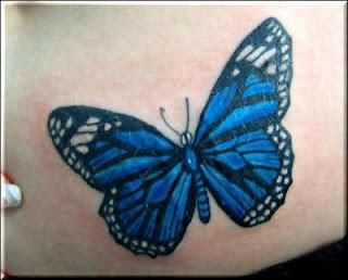 tattoo borboleta azul