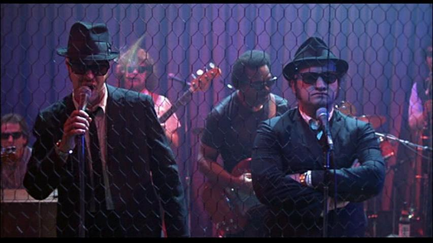 The Blues Brothers  throwing beer bottles