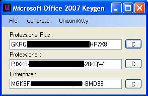 microsoft office 2007 full crack + keygen