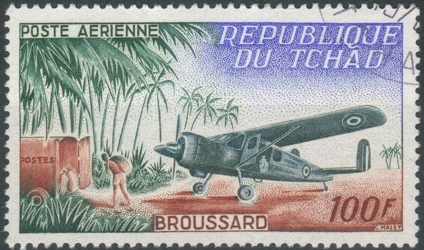 la france sur les timbres du monde   french presence on stamps  tchad 4  5