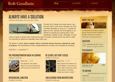 Rob Goodlatte, Excellent Blog Designs