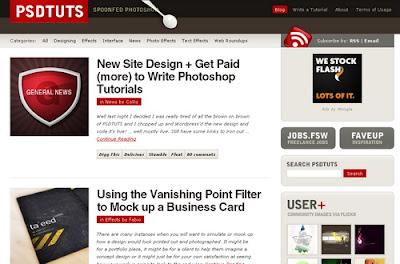 PSDtuts, Excellent Blog Designs