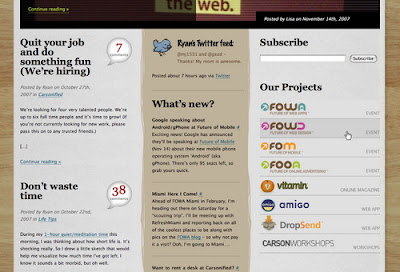 Carsonified, Excellent Blog Designs