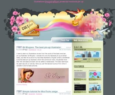 Cult Foo, Excellent Blog Designs