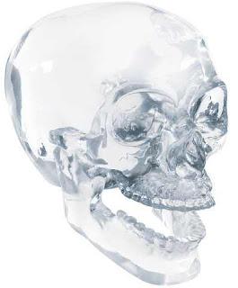 Crystal Skull, Quartz, Mayan