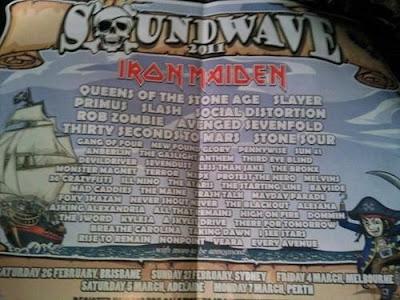 Soundwave 2011 Lineup, Iron Maiden