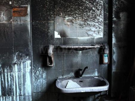 Salonul din maternitatea Giuleşti a ars în întregime
