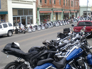 Motorcycles on Main Street in Jerome Arizona