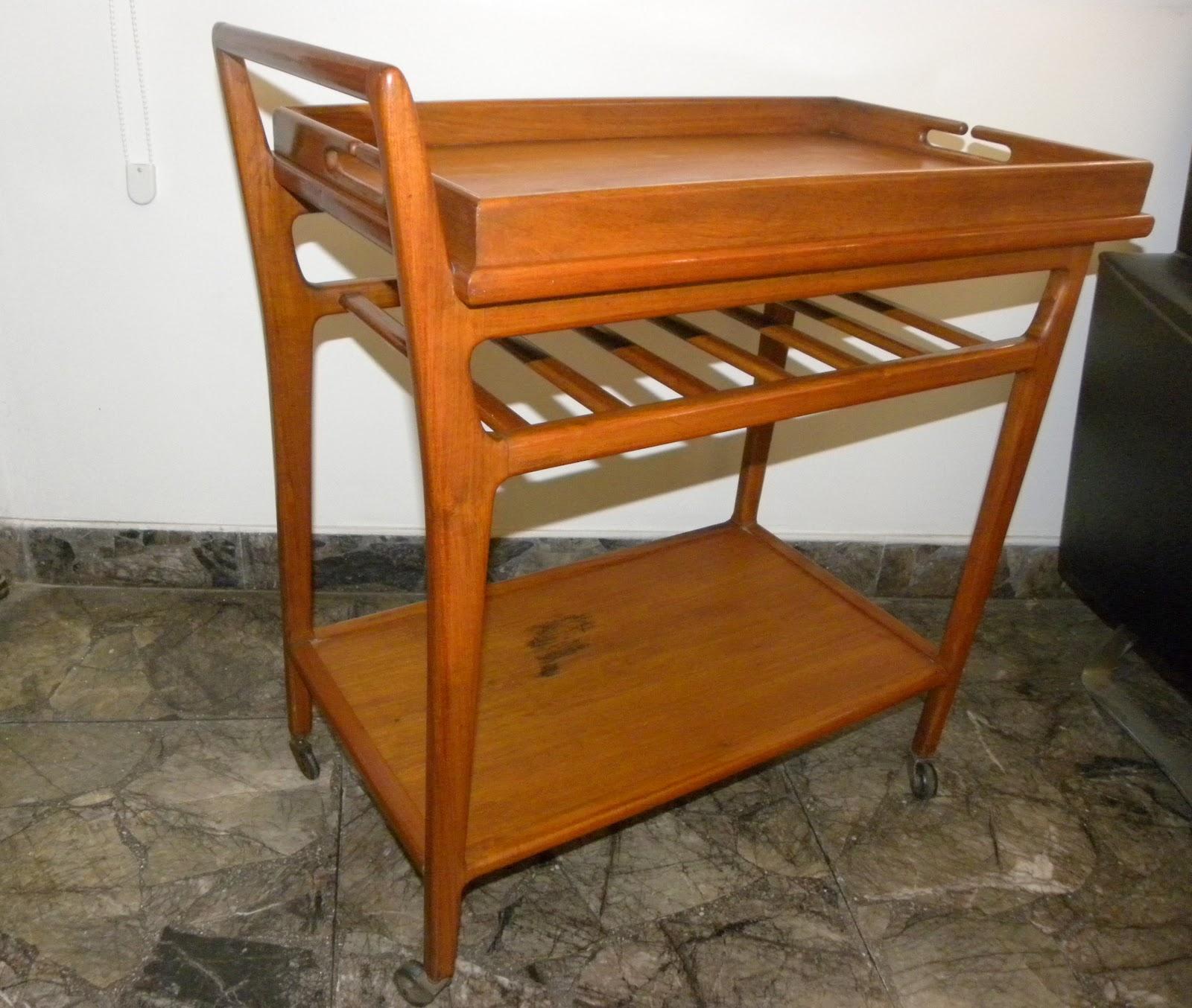 Deco retro vintage mesa de bar rodante escandinava for Bar rodante de madera