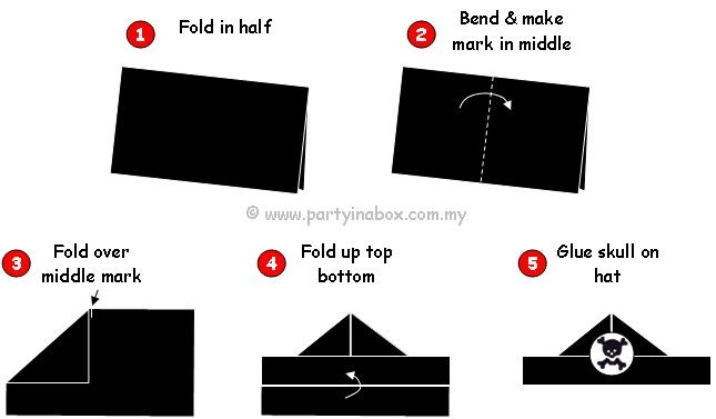 how to make a paper pirate hook