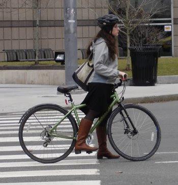 fashionable cyclist