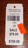 LL Bean car coat camel wool on clearance
