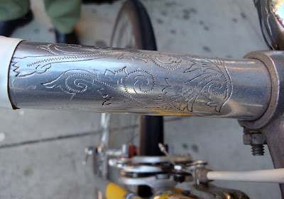 engraved Dawes handlebar