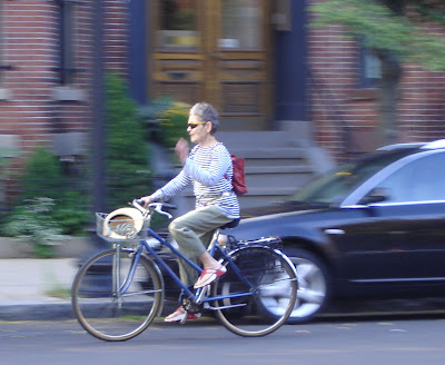 mature lady on a bike