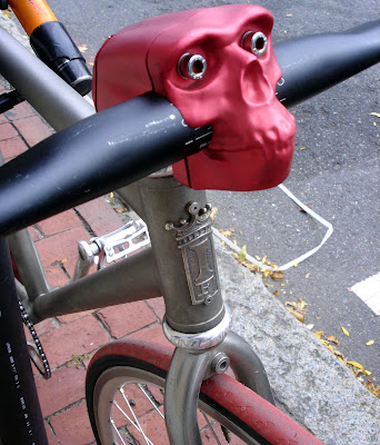 Halloween Skull bike bicycle stem