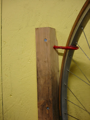 fabrication bike hook rack homemade