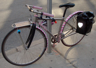 girl ladies Seven titanium bicycle pink silver custom