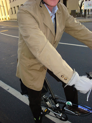 men man cycling bicycling jacket coat reflective DIY