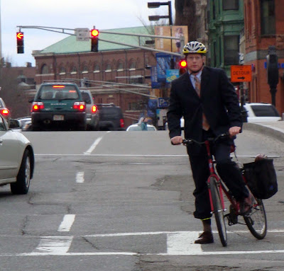 mountain bike and a suit bike Boston
