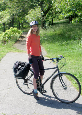 sporty chic cyclist