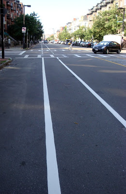 Boston Columbus Avenue bike lane