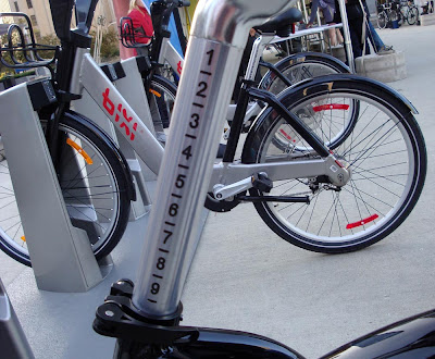 Bixi bike measured seat post
