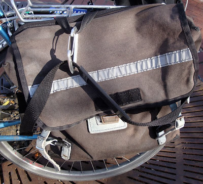 carabiner clip on a bike bag
