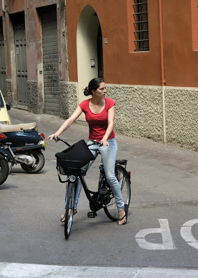 cute girl on a bike