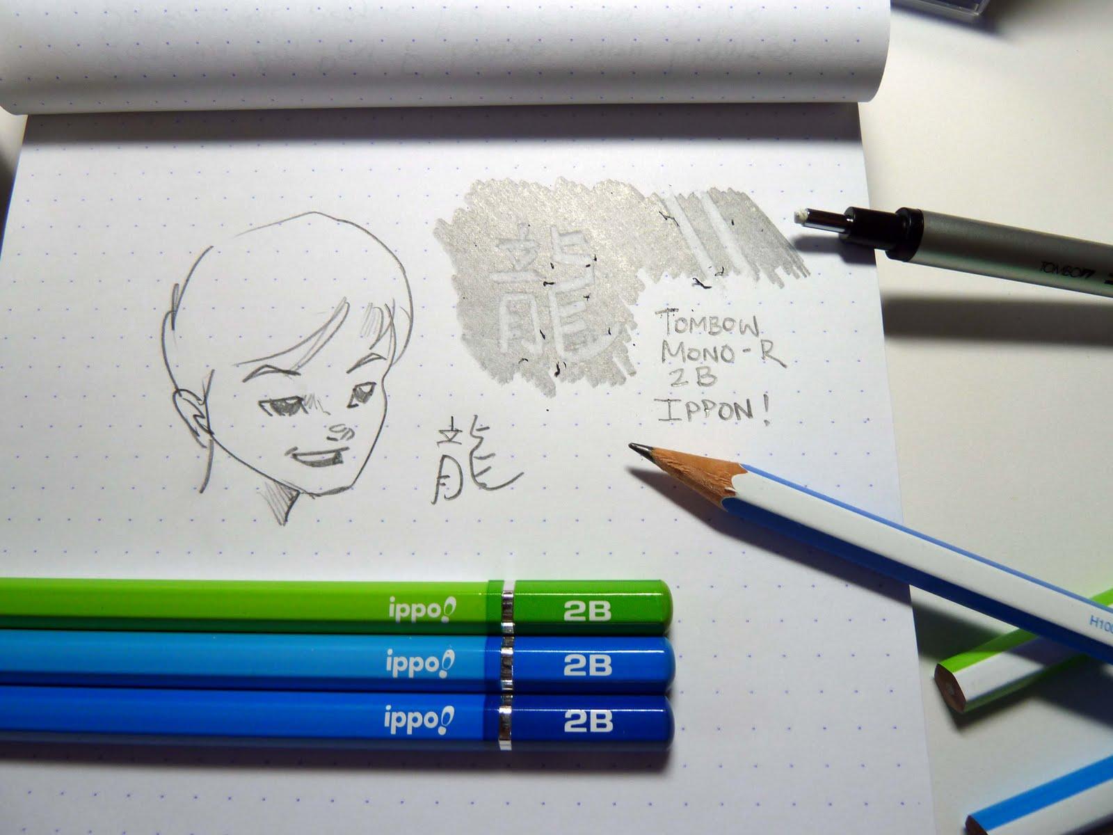 Tombow mono r ippo pencils and tombow mono zero 2 3 mm precision eraser initial impression